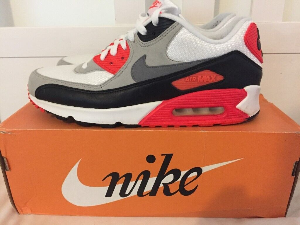 MENS NIKE AIR MAX 90 INFRARED TRAINERS SIZE 9 2015 EXCELLENT CONDITION WORN 3 TIMES | in Coulsdon, London | Gumtree