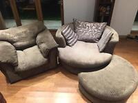 DFS Armchair & Swirl chair Living room Set
