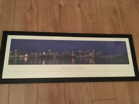 New York print with frame