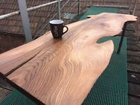 Hand crafted,reclaimed elm wood & steel . 1 of a kind coffee table