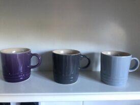 Le Creuset set of 3 expresso mugs