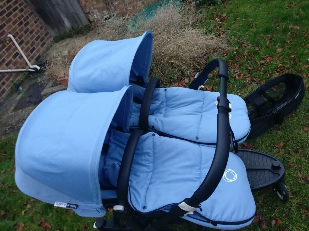 Immaculate Bugaboo Donkey twin/duo bundle, only 10 months old