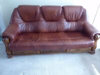 3 SEATER SOFA WITH 3 STORAGE DRAWERS FAUX LEATHER