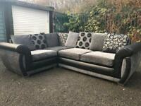 Black and grey corner Sofa £250
