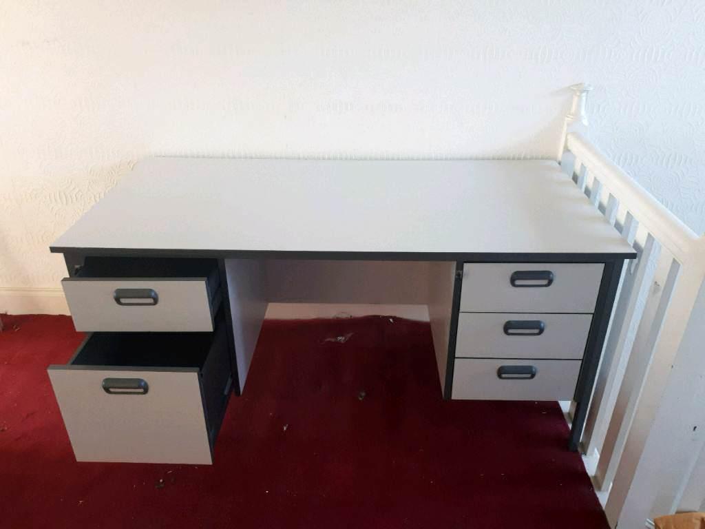 Grey office desk