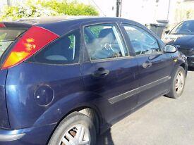 Blue Ford Focus for sale non runner 1.6 ltr, 99000