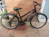 ladies mennerva code mountain bike 18 inch frame with lock and lights £45.00