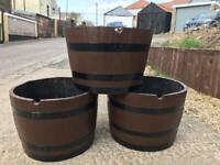 Original whiskey barrel planter