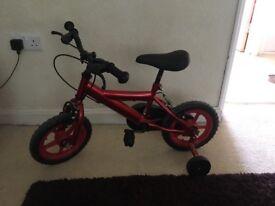 Red pirate child's bike