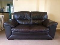 Two seater faux leather sofa x 2