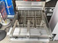 GAS 3 BASKET FRYER CATERING COMMERCIAL KITCHEN RESTAURANT FAST FOOD BBQ KEBAB CAFE BAR SHOP