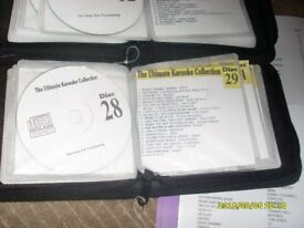 ULTIMATE KARAOKE SET 39 DISCS FULLY UP TO DATE