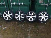 4x Alloy wheels off BMW E46 and tyres