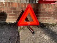 Warning triangle breakdown car motoring recovery