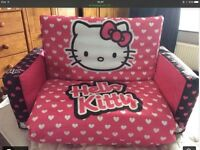 Child's inflatable sofa bed - Hello Kitty