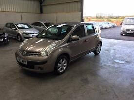 07 Reg Nissan note SE 1.6 automatic 1 owner low miles guaranteed cheapest in country