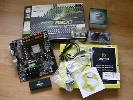 XFX 8200 motherboard and Athlon II X2 265 CPU for sale.