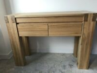 Solid Oak Console Table - In Excellent Condition - Cost £350 New