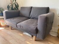 Ikea 2 seater sofa with side pockets