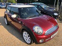 2007 MINI COOPER 1.6 3DR HATCHBACK IN CHERRY RED