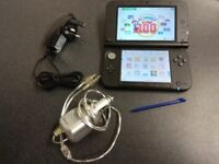 Nintendo 3ds xl blue with 25 games pre installed with charger and stylus