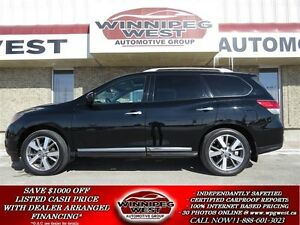 2013 Nissan Pathfinder PLATINUM EDITION 4X4, PAN ROOF, DVD ENT,