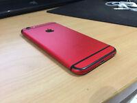 Custom Apple iPhone 6S 16GB EE Red/Black Faulty