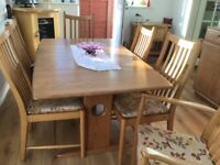 Ercol extending table & chairs