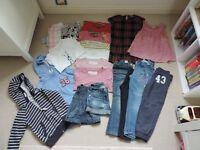 Bundle of girl's clothing, age 6 years.