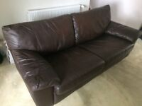 Ikea 3 seater leather sofa bed