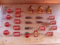 Cocacola lapel-pin badge lot. Mixture of old and new, good condition.
