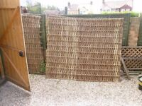 Willow Fencing Panels (9 ) 5' X 6'