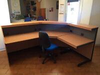 Large Reception Unit Desk