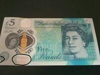 New 5 pound Banknotes AL series 3ERROR on1 banknotes