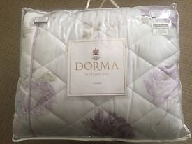 New-Dorma Double duvet cover, quilted throw,pillowcases, wall art,co-ordinating flat sheet,curtains