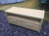 Wood effect tv unit