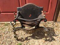 Antique Cast Iron Fire Grate