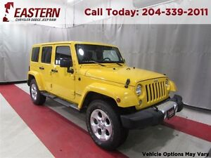 2015 Jeep WRANGLER UNLIMITED SAHARA 3.6L 4X4 NAV TOUCH SCREEN A/