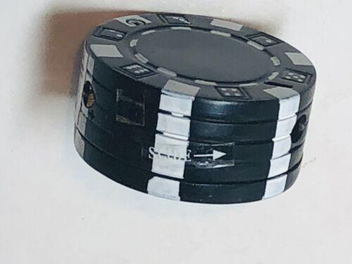 Poker Chip Refillable Butane Lighter Black - Works
