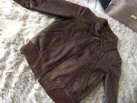 Topshop Leather Bomber jacket
