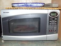 Chrome 800W microwave, great condition.