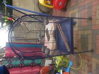 PARROT CAGE LARGE OPEN TOP