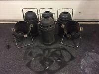 6 x PAR 64 Cans (Inc Gel Frames)