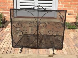 Wrought iron Fire guard by Jim Lawrence