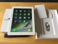 Apple iPad 4 16 GB wifi + cellular EE + boxed sliver & white read add !!