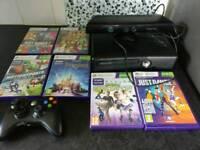 Xbox 360 + kinnect (motion sensor) 6 games
