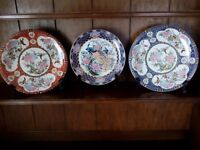 Imari style plates.