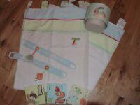 Next curtains, tie backs lampshade & canvas baby Nursery set- Ziggy & Friends