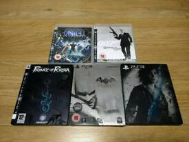 PS3 5 TOP TITLES GAMES BUNDLE STEEL SPECIAL EDITION UK Delivery