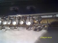 STRAIGHT SOPRANO SAXOPHONE by ROBERT MARTEL, Ser No B 6481, If It HELPS TO TRACK IT DOWN